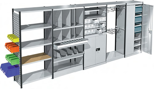 Euro shelving offers a full range of accessories