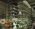 Longspan shelving: Two-tiered configuration